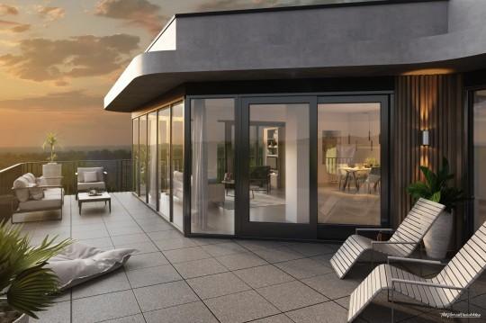 Terrasse, Abendstimmung, Ausblick