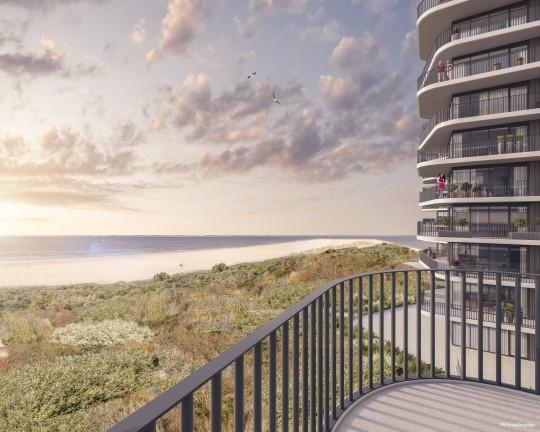 Blick aufs Haus, Ansicht, Dünen, Meer, Ausblick